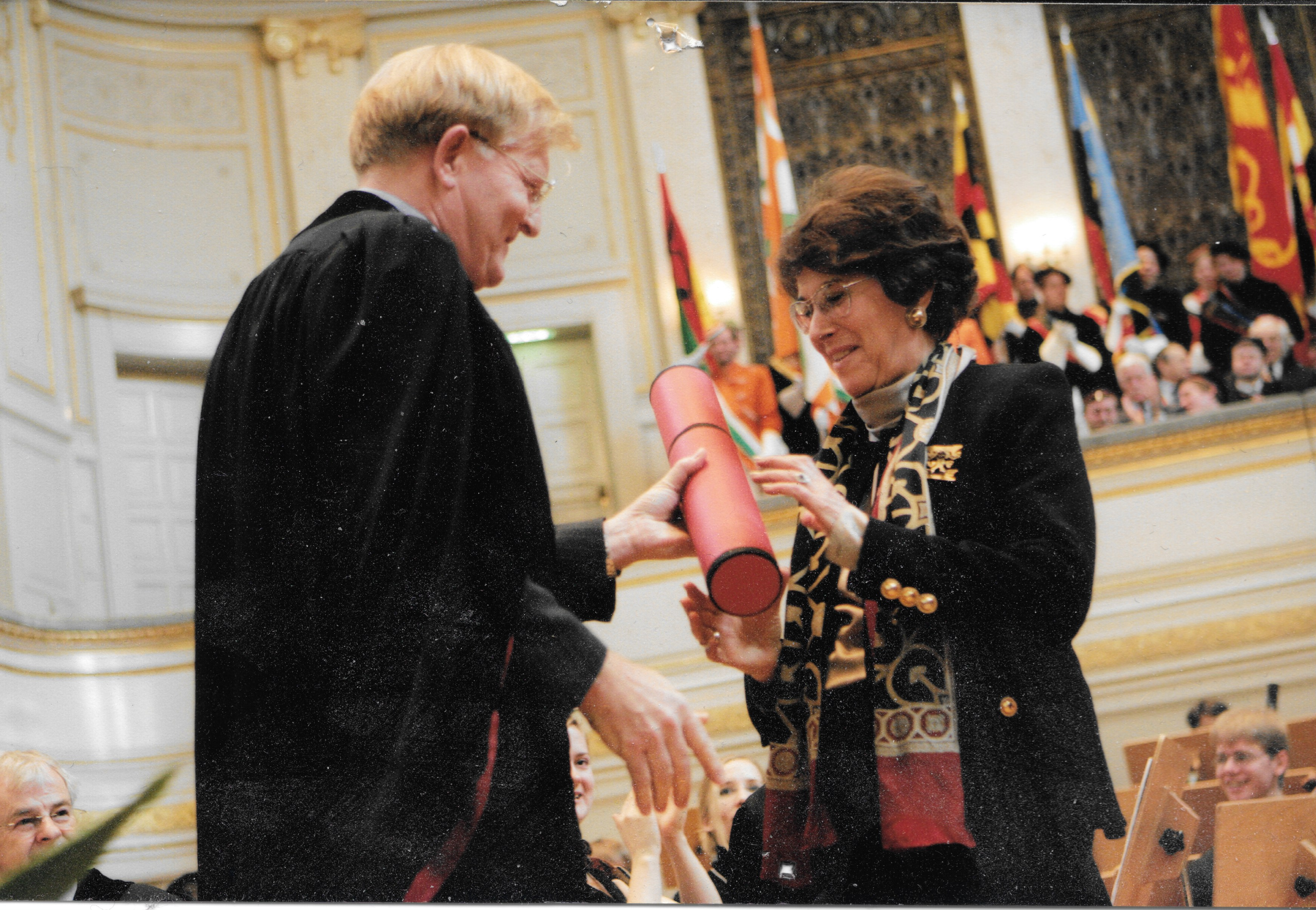Receiving Honorary Doctorate